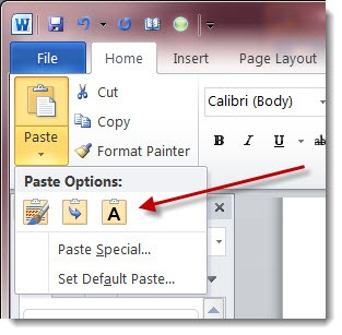 office2010pasteoptions
