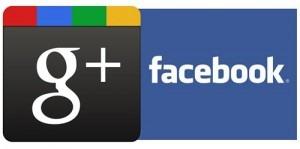 Google+ Facebook logos