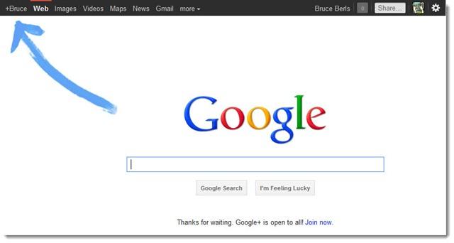 Google - Google+ promotional doodle