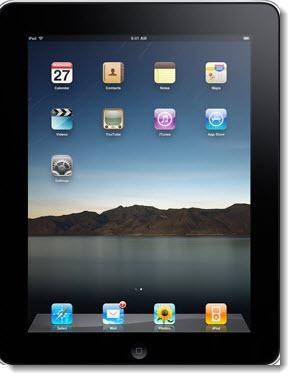 Apple iPad - home screen