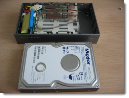 Disassembling an external hard drive