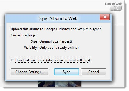 Google+ - sync photos between Android phone and PC