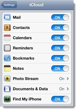 Apple iCloud - setup