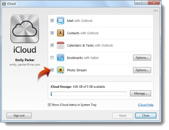 Apple iCloud - setup - Windows PC