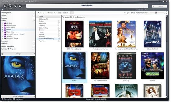 JRiver Media Center 17 video library