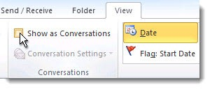 Office 365 - Outlook conversation view