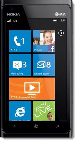 Windows Phone - Nokia Lumia 900
