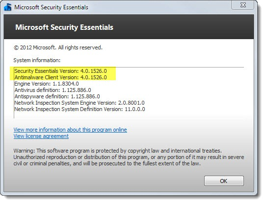 Microsoft Security Essentials updated to version 4.0