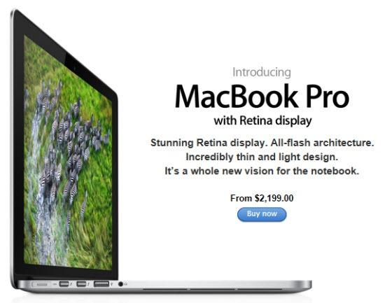 Apple Updates The MacBook Pro with Retina display