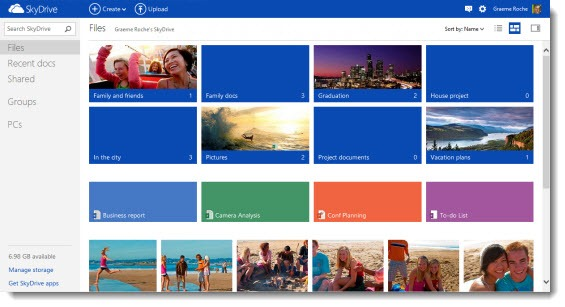 Skydrive - new design