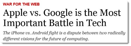 Time Magazine: Apple vs Google
