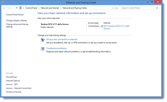 Windows 8 Is Exactly Like Windows 7 - Network and Sharing Center