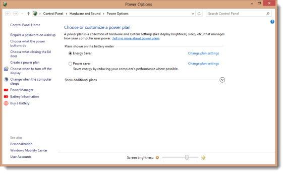 Windows 8 Is Exactly Like Windows 7 - Power Options