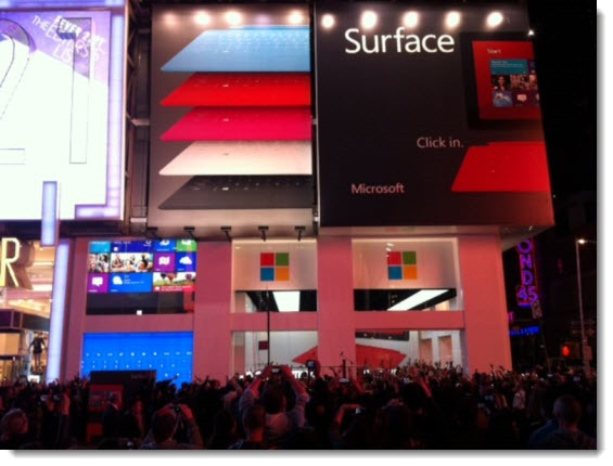 Windows 8 launch in Times Square