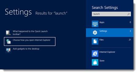 Windows 8 - Internet Explorer - open links in desktop
