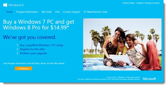 Windows 8 upgrade from Windows 7