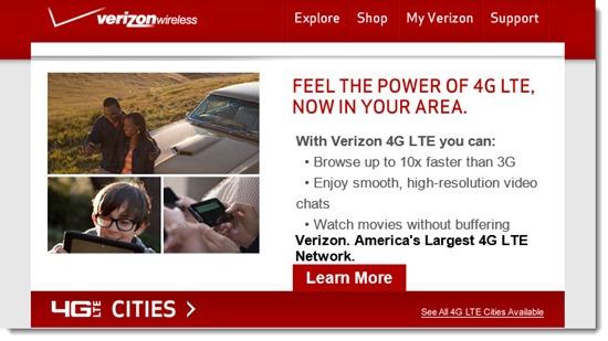 Verizon 4G LTE coverage in Sonoma County
