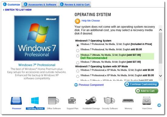Dell Latitude 6430u - promoting Windows 7