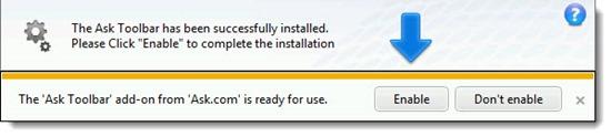 Java - Ask Toolbar installer dialog