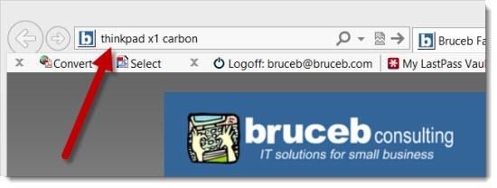 Internet Explorer address bar - searches