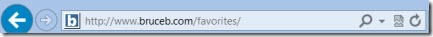 Internet Explorer address bar