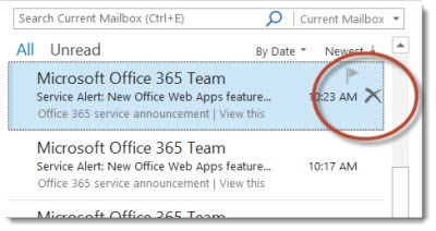 Office 2013 - Outlook - new tool to delete messages