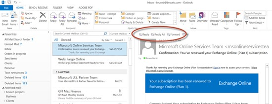 Office 2013 - Outlook - inline replies