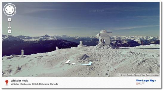 Google Street View - Whistler ski resort