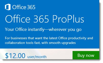 Office 365 - ProPlus Business subscription