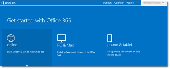 Office 365 upgraded portal