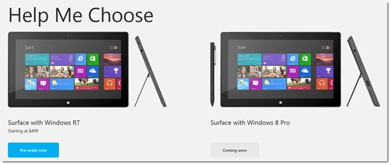 Surface RT and Surface Pro