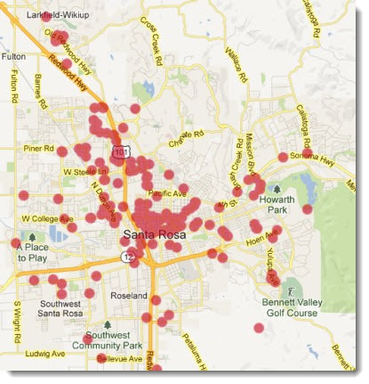 Comcast free wireless - Xfinity wifi map - Sonoma County Santa Rosa