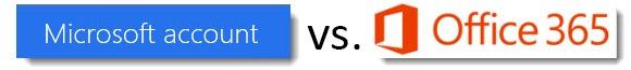 Microsoft account vs Office 365 account