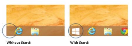 Stardock Start8 - restore Windows 8 Start menu