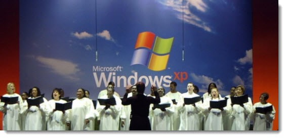 Windows XP launch - gospel choir