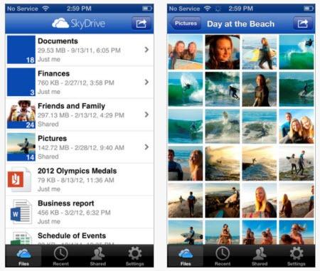 Skydrive - iPhone app