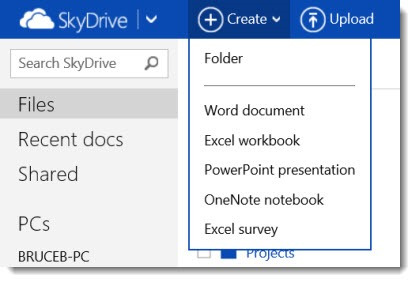 Office Web App - create Office document