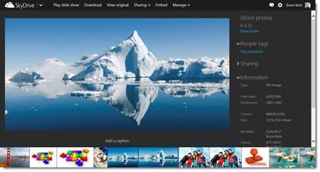 Skydrive - photo display