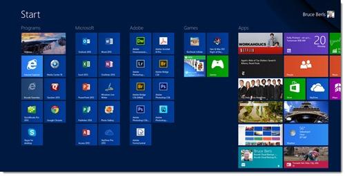 Windows 8 Start screen - desktop computer