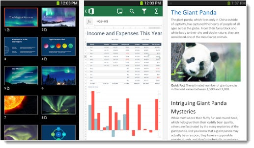 Microsoft Office Mobile - Android phones