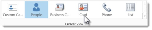 Outlook 2013 - change contact views