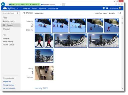 Skydrive - all photos view