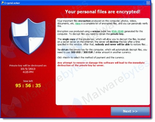 CryptoLocker - a security nightmare