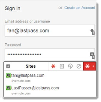 LastPass 3.0 dropdown under password fields
