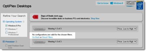 Dell Optiplex - no Windows 8