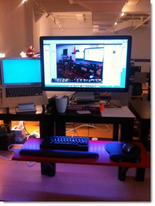 Standing desks - Ikea hacks