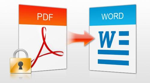 Convert Acrobat PDF to Word format