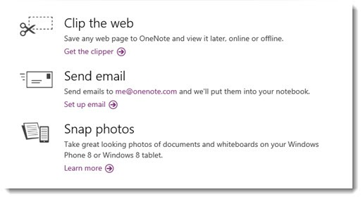 OneNote - new apps and tools