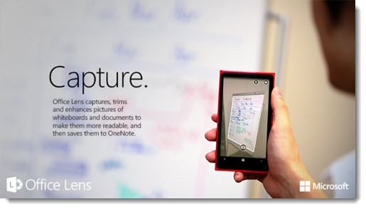 Office Lens - turn your Windows Phone into a scanner