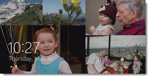 Windows 8.1 - display photos on your lock screen